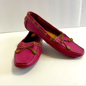 Clarks Artisan pink driving shoes size 7M pink